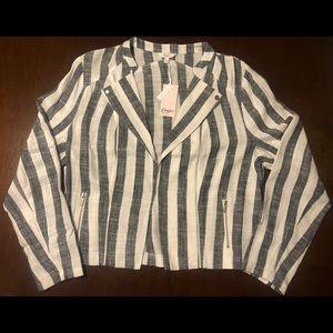 CANDIE'S Black & White Striped NWT XL Blazer